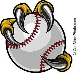 Eagle Bird Monster Claw Holding Baseball Ball