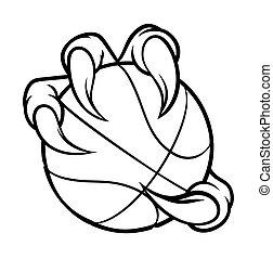 Eagle Bird Monster Claw Holding Basketball Ball