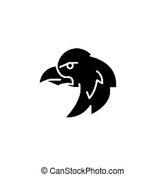 Eagle black icon concept. Eagle flat  vector symbol, sign, illustration.
