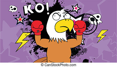 eagle boxer cartoon background9 - eagle boxer cartoon...