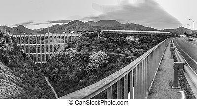 Eagle Bridge in Nerja, Malaga. Panoramic