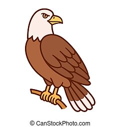 Eagle cartoon illustration