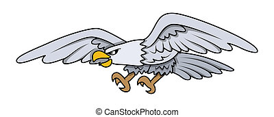 Eagle - Cartoon Vector Illustration
