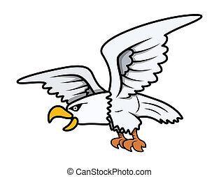Eagle Cartoon - Vector Illustration