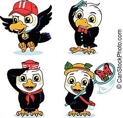eagle child set vector illustration graphic design