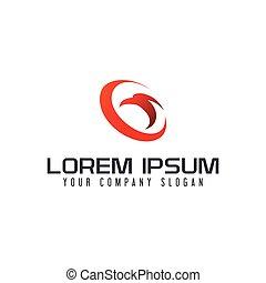 Eagle circle logo design concept template