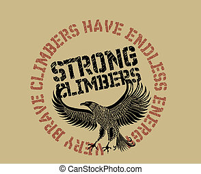 eagle climbers team vector art