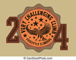 eagle climbers team vector art
