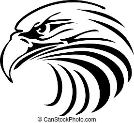 Eagle - an abstract silhouette of an eagle head