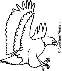 Eagle Clipart - A simple eagle outline drawing.