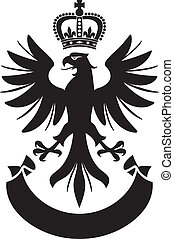 eagle coat of arms design (eagle, crown and banner)