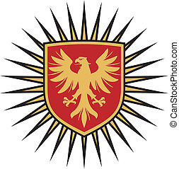 eagle coat of arms design (eagle and shield)