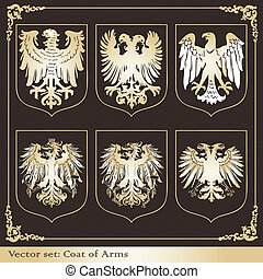 Eagle coat of arms heraldic vector