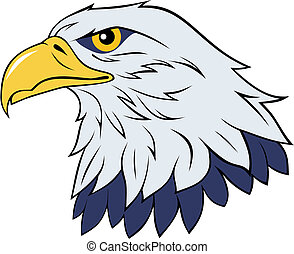 Eagle - Color vector illustration of eagle head