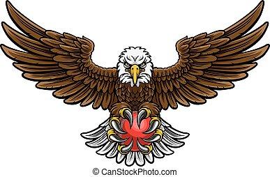 Eagle Cricket Sports Mascot