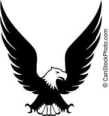 eagle design element vector