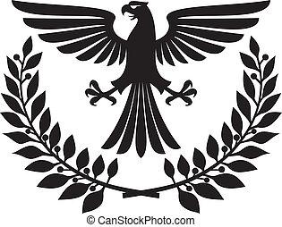 eagle emblem (eagle coat of arms, eagle symbol, eagle badge...