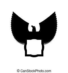 Eagle emblem template. Hawk symbol. Vector illustration