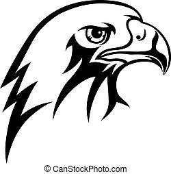 Eagle - Face eagle vector art design