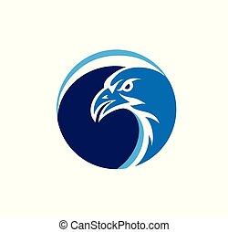 Eagle Face Circle Logo