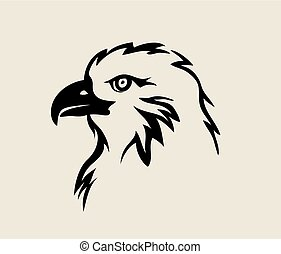 Eagle Face Tribal Logo