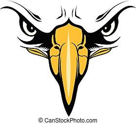 Eagle Face with Eyes and Beak