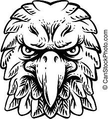 Eagle Falcon Hawk Or Phoenix Head Face Mascot