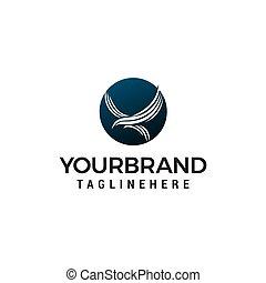 eagle fly in circle logo design concept template vector