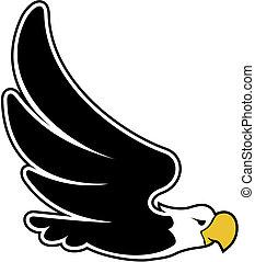 eagle flying cartoon