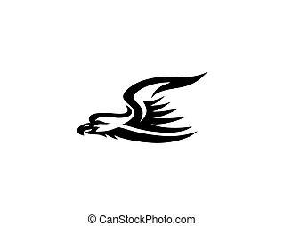 Eagle Flying Logo, art vector design