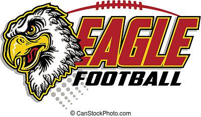 eagle football design with eagle mascot head