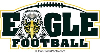 eagle football mascot team design for school, college or...
