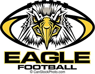 eagle football mascot team design for school, college or ...