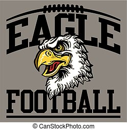 eagle football team design with mean mascot head