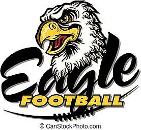 eagle football team design with mean mascot head