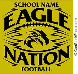 eagle football - tribal eagle nation football team design...