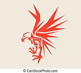Eagle Geometric, art vector design