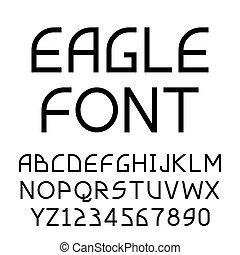 Eagle geometric sans-serif font - Eagle geometric asymmetric...