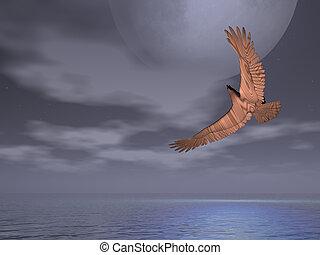Eagle Gloomy Skies