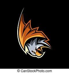 EAGLE HAWK BIRD MASCOT ILLUSTRATION