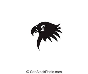 Eagle head bird logo and symbol vector