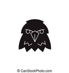 Eagle head black vector concept icon. Eagle head flat illustration, sign
