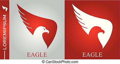 eagle head, eagle spread out its wings.