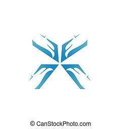 eagle head facing logo design
