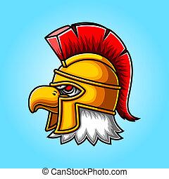 Eagle Head gladiator mascot logo design