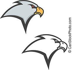 Eagle head icon isolated on white background.