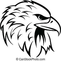 Eagle Head - vector illustration of Eagle Head