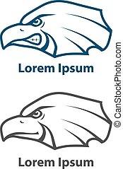 eagle head logo concept american - eagle logo, for sport...