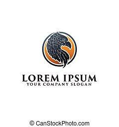 Eagle head logo design concept template