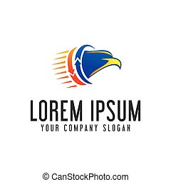eagle head logo. fast moving logo design concept template